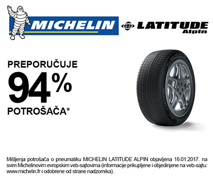 Michelin Latitude Alpin rating
