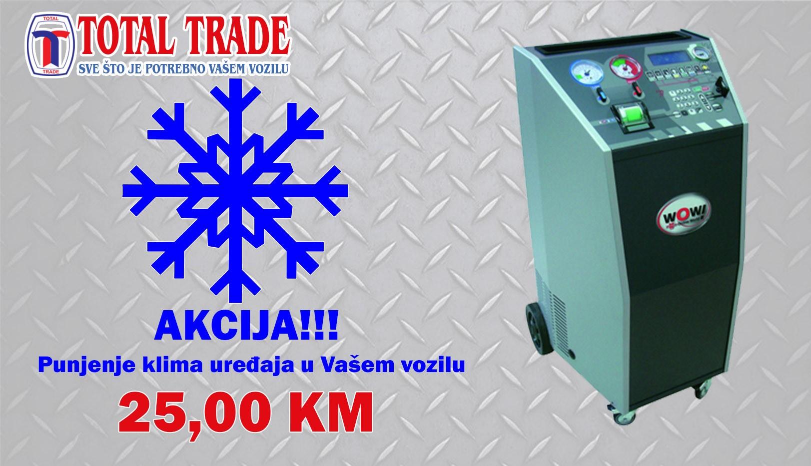 Akcija - Punjenje klima uređaja - 25,00 KM