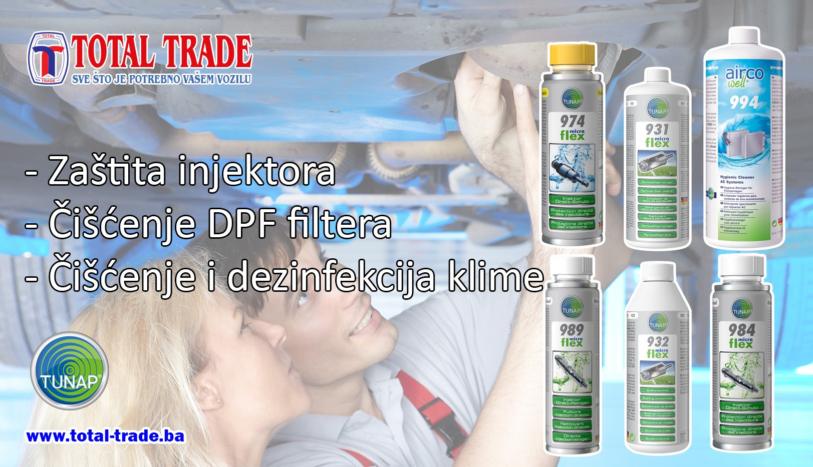 TUNAP - Čišćenje DPF filtera, Čišćenje klima, Zaštita injektora