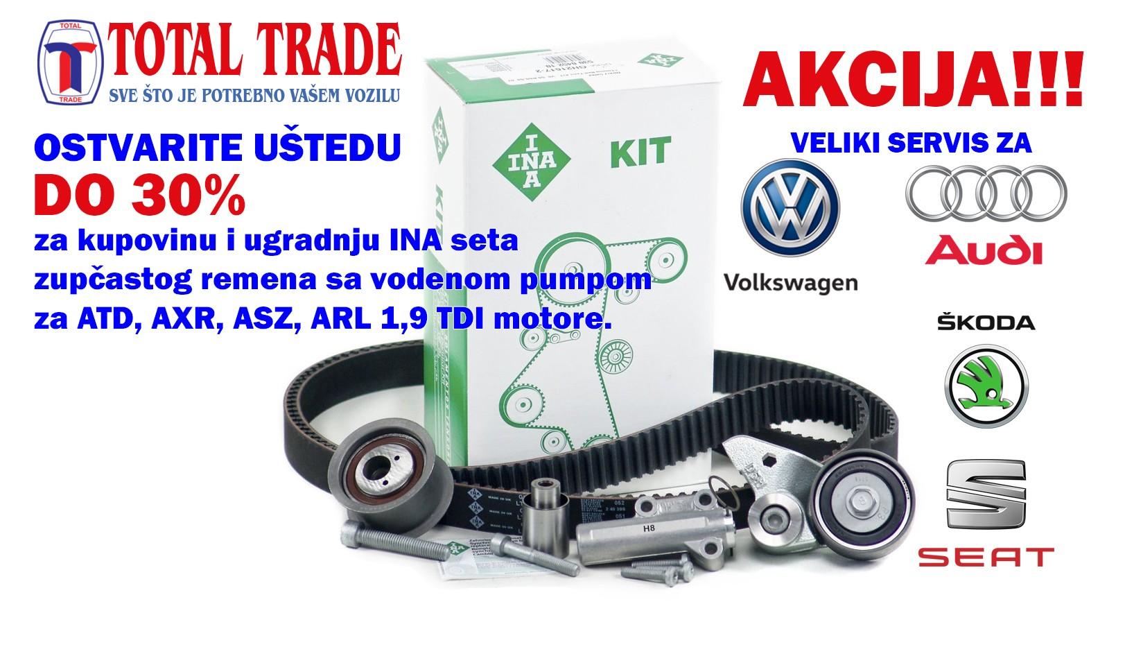 Uštedite do 30% na velikom servisu za Vaše VW 1,9TDI vozilo